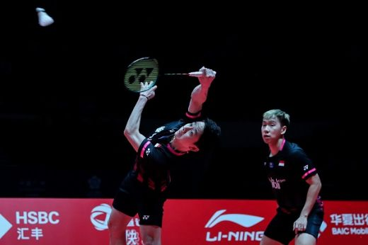 Dikalahkan Pasangan Jepang, Kevin/Marcus Terhenti di Semifinal