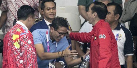 Pesan Jokowi ke Sandiaga Uno di Pelantikan HIPMI: Hati-hati 2024