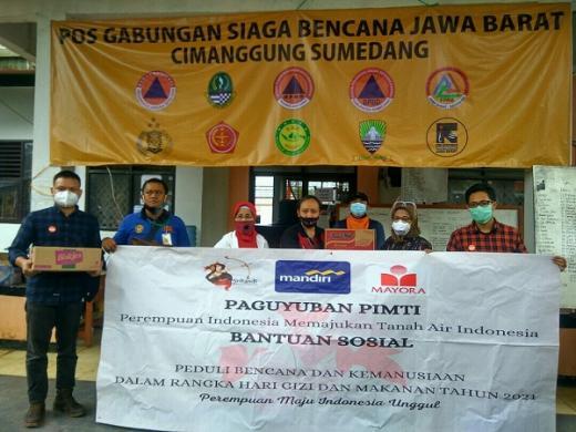 Semangat Berbagi Ibu-ibu Pimti untuk Korban Longsor Sukabumi