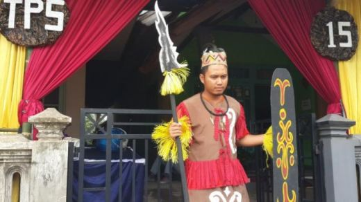 Nyoblos di Kota Batu Malang Ini Serasa di Papua Lho...