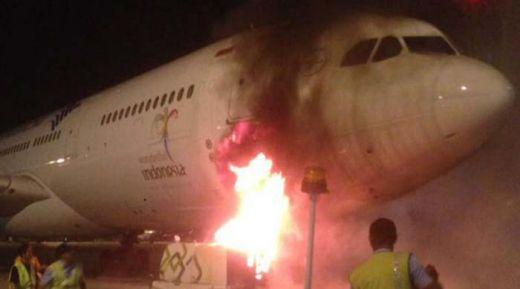 Genset Garuda Indonesia Terbakar di Terminal 3 Bandara Soekarno-Hatta