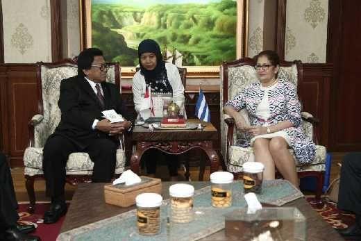 Terima Kunjungan Dubes Kuba, Ketua DPD RI Bicara Penguatan dan Perluasan Kerjasama Bilateral Indonesia