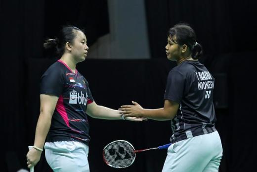 Melani/Tryola Hadapi Greysia/Febby di Perebutan Juara Grup J