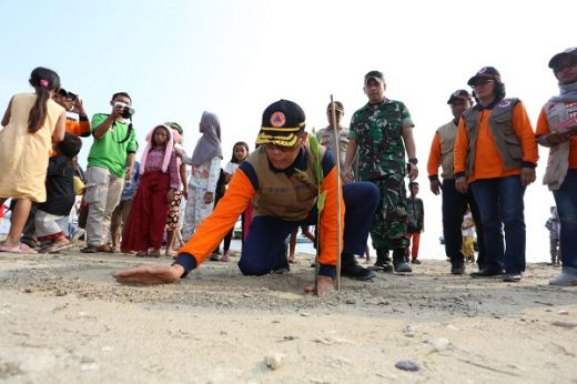 BNPB Bangun Benteng Alam dan Rambu Tsunami di Pandeglang