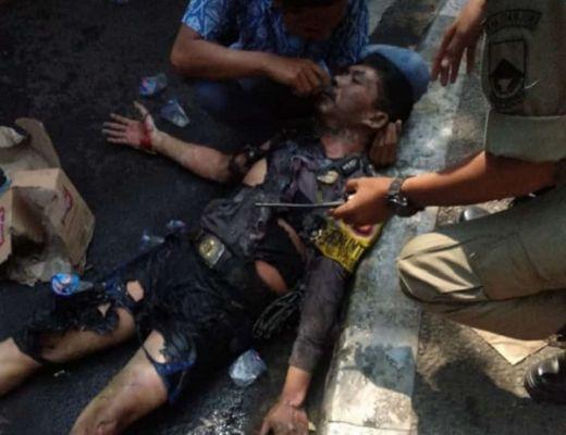 Demo Brutal Mahasiswa Cianjur, Polisi Terbakar saat Mengamankan Aksi