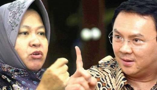 Dari Hasil Survey Poltracking Indonesia, Risma vs Ahok Jika Head to Head Bersaing Ketat