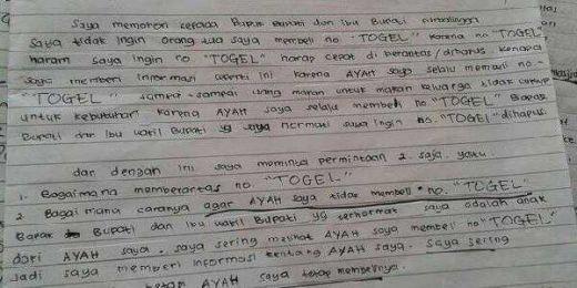 Ikut Lomba Buat Surat, Santri TPQ Ini Tulis Sang Ayah Kecanduan Togel, Eh Juara I