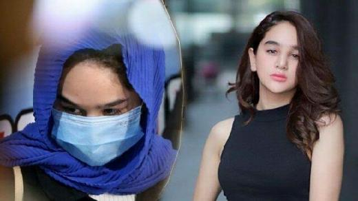 Kenakan Jilbab Biru dan Masker, Hana Hanifah Minta Maaf
