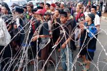 Massa Demo Tolak RUU HIP Menyemut