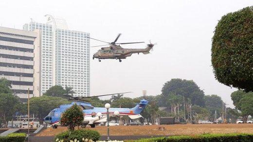 Jelang Sidang Tahunan MPR, Helikopter Kepresidenan Sudah Mendarat di Komplek Parlemen Senayan