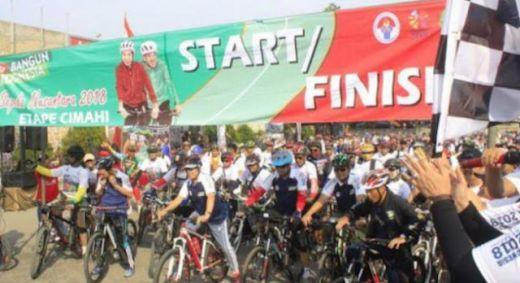 Ribuan Penggowes Padati Gedung Perundingan Linggarjati Ikuti Sepeda Nusantara