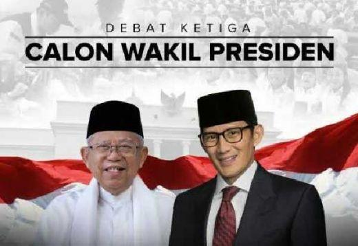 Debat Cawapres 2019: Ini Peluru Sandiaga Uno dan Maruf Amin