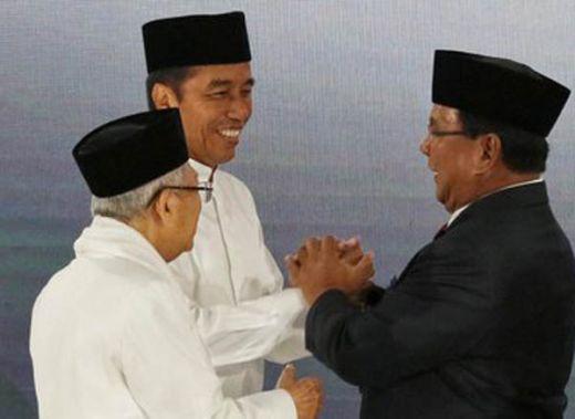 Quick Count Pilpres 2019 LSI Denny JA Suara Masuk 80%: Jokowi 54.76% Prabowo 45.24%