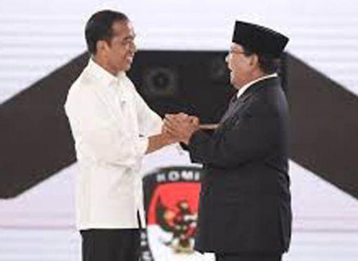 Hasil Quick Count Pilpres 2019 LSI Denny JA: Jokowi 54,7% Prabowo 45,3%, Data Masuk 70,8%