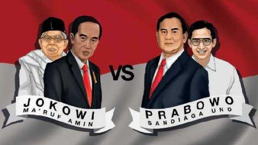 Hasil Quick Count Pilpres 2019 LSI Denny JA: Prabowo 44,58%, Jokowi 55,44%, Data Masuk 63 %