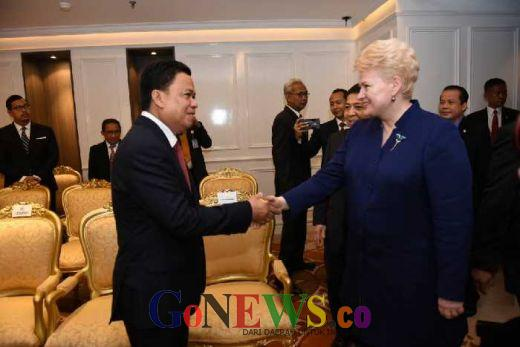 Presiden Lithunia Kunjungi DPR, Setya Novanto: Ini kunjungan Pertamannya, Mudah-mudahan Hubungan Bilateral Makin Kuat