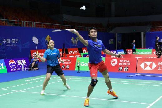 Tim Bulutangkis Indonesia Jajal Arena Pertandingan