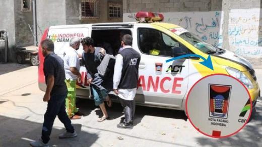 Ambulance Donasi Warga Padang Bantu Evakuasi Korban yang Dibombardir Israel di Palestina