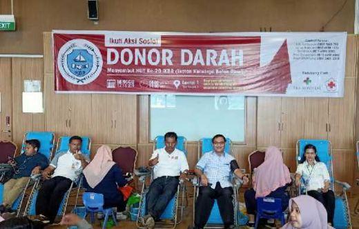 Genap 20 Tahun, Ikatan Keluarga Batak Riau Rame-rame Nyumbang Darah