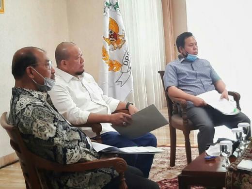 Bahas Persoalan Bangsa, Pimpinan DPD Rapat Konsultasi Virtual dengan MPR RI
