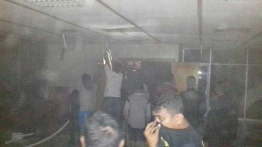 Pada Saat Jam Sahur, Ruangan Pansus Lantai 3 di Gedung Nusantara 2 DPR Terbakar