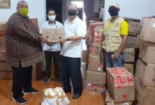 Jelang Idul Fitri, PMRJ Kembali Bagikan Sembako ke Warga dan Mahasiswa Riau di Jabodetabek