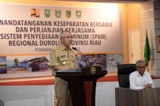 Hari Ini, Gubri dan KemenPUPR Tandatangani Kerjasama Penyelenggaraan Sistem Air Minum Regional Durolis Riau