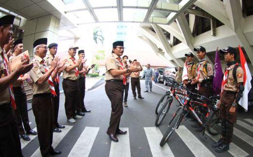 Tiga Anggota Pramuka ini, Jalan Kaki Sepanjang 174 KM ke Palembang, Lalu Naik Sepeda dari Palembang ke Jakarta, Begini Cerita Serunya