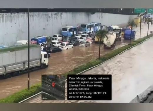 Update Situasi Jalan Tol Jasa Marga yang Digenangi Banjir