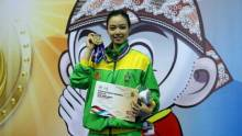 Pesona Atlet Wushu Cantik di Ajang PON XIX Jabar, Lindswell Kwok Siap Menatap Asian Games 2018