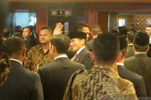 Tiba di Kompleks Parlemen, Sandiaga Harap Pelantikan Jokowi-Maruf Lancar
