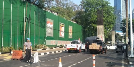 Begini Situasi Pintu Belakang Gedung DPR Jelang Pelantikan Jokowi-Maruf