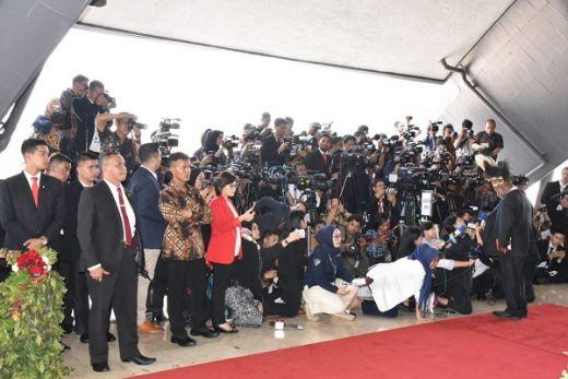 Antusiasme Media Nasional dan Internasional saat Meliput Pelantikan Jokowi-Maruf