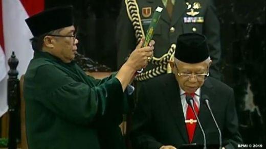 Ini Bunyi Sumpah Jokowi dan Maruf Amin sebagai Presiden-Wakil Presiden 2019-2024