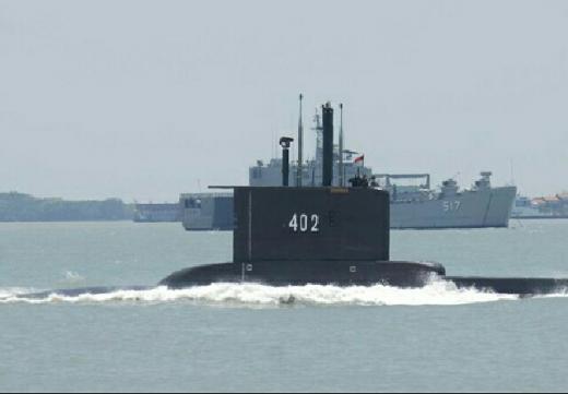 Berisi 53 Prajurit, Kapal Selam RI Nanggala-402 Diduga Jatuh di Kedalaman 700 Meter