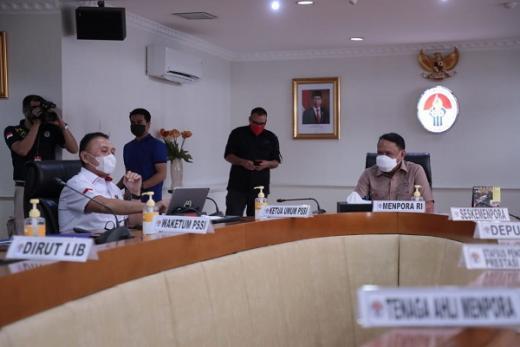 PSSI dan PT LIB Laporkan Persiapan Laga Final dan Bahas Kompetisi