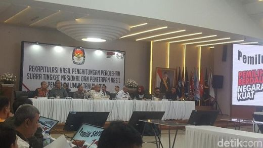 KPU Tetapkan Hasil Pilpres: Jokowi 55,50%, Prabowo 44,50%