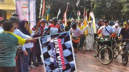 Kesenian Melayu dan Pameran UMKM Warnai Gowes Nusantara di Langkat
