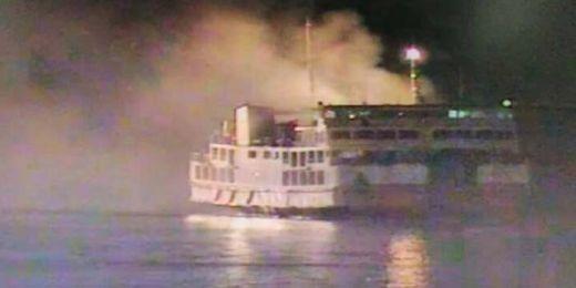 Kapal Penyeberangan Merak - Bakauheuni Terbakar, 20 ABK Dievakuasi