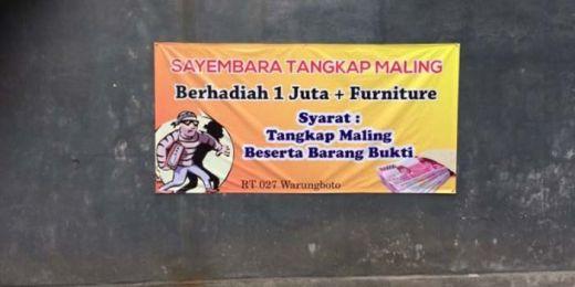 Warga Gelar Sayembara Tangkap Maling Berhadiah Uang dan Furniture