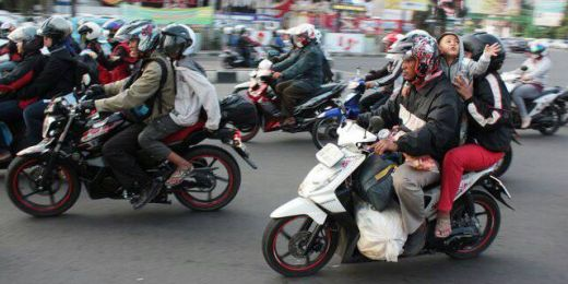 Hindari Kecelakan Saat Mudik, Pengendara Sepeda Motor Diminta tak Bonceng Anak-anak
