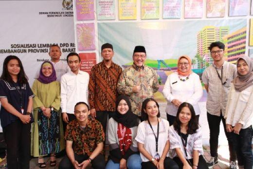 Bahas Penguatan Lembaga dengan Mahasiswa Bandung, Ini Respon yang Diterima DPD...