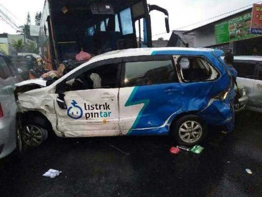 Supir Bus Pariwisata yang Akibatkan Kecelakaan Maut di Puncak, Resmi Jadi Tersangka