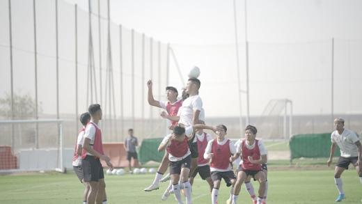 Shin Tae-yong Berikan Latihan Taktikal Ditambah Set Piece Training