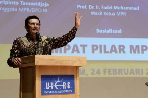 Fadel Muhammad Harap 4 Pilar Menginternalisasi Civitas Universitas Universal