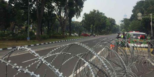 Hakim MK Gelar Rapat Musyawarah, Jalan Medan Merdeka Barat Ditutup