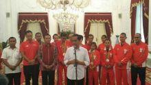 Sambut Pahlawan Olimpiade, Presidan Jokowi Ingatkan Imam Nahrawi Supaya Fokus