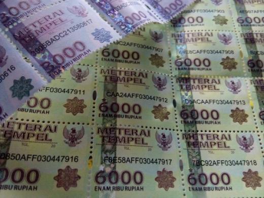 Pemerintah Mau Hapus Meterai Rp3.000 dan Rp6.000, Naik jadi Rp10.000