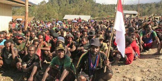 Kecewa... Ratusan Anggota OPM Turun Gunung dan Nyatakan Kembali ke Pangkuan Indonesia