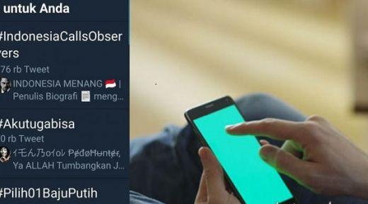 Trending Topik... Tagar #IndonesiaCallsObservers Gantikan #INAelectionObserverSOS